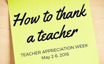 How to Thank a Teacher