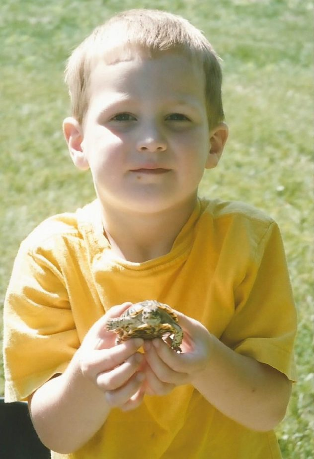 Zach and turtle